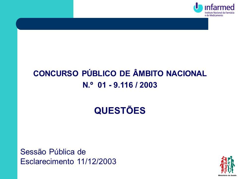 CONCURSO PÚBLICO DE ÂMBITO NACIONAL