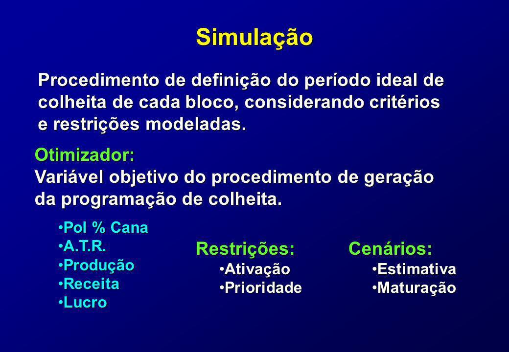 Simulação Procedimento de definição do período ideal de