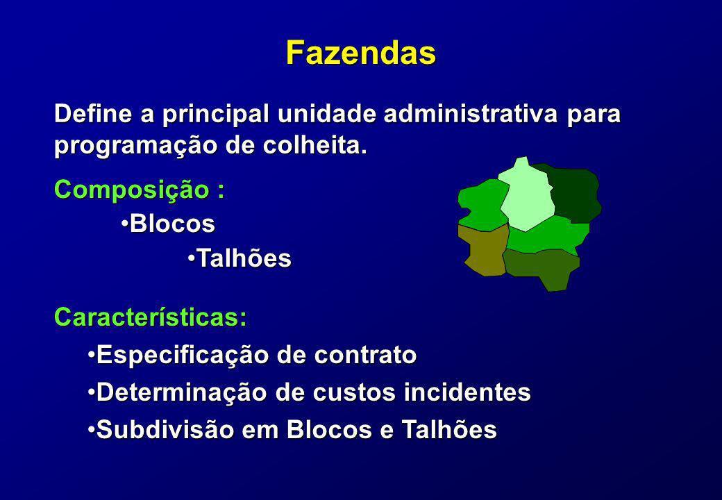 Fazendas Define a principal unidade administrativa para