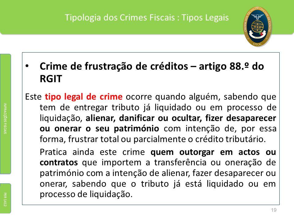 Tipologia dos Crimes Fiscais : Tipos Legais