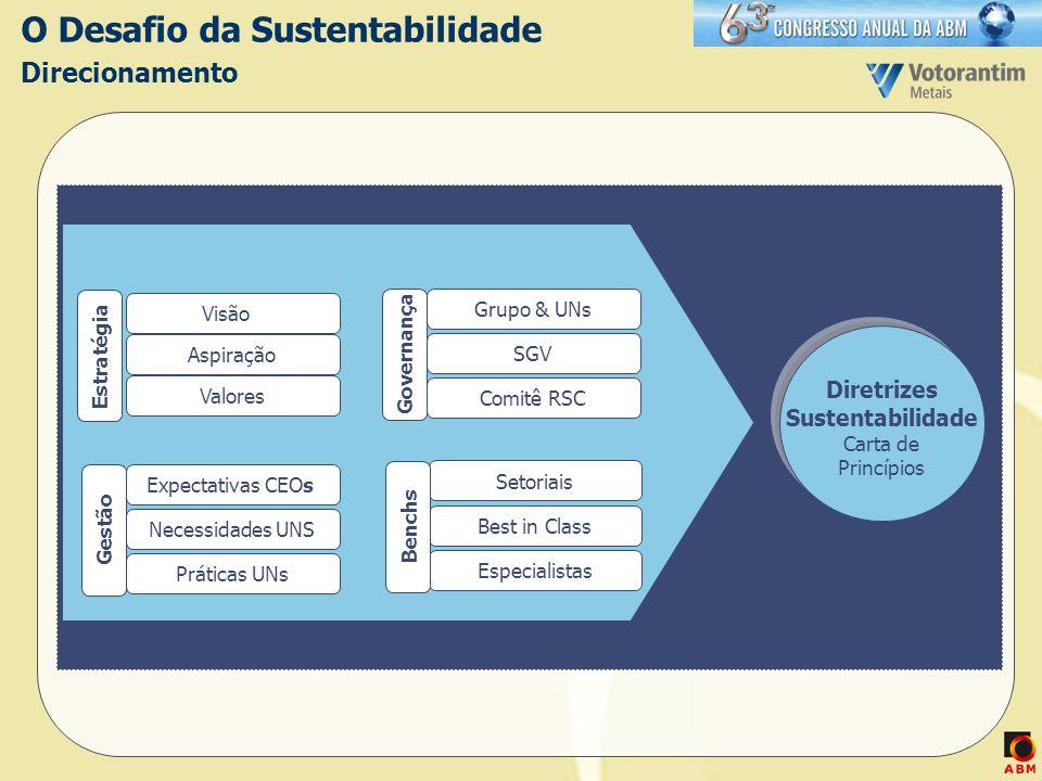 O Desafio da Sustentabilidade Direcionamento