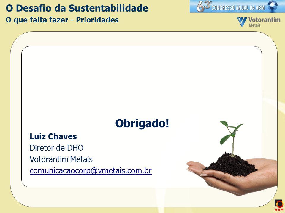 O Desafio da Sustentabilidade O que falta fazer - Prioridades