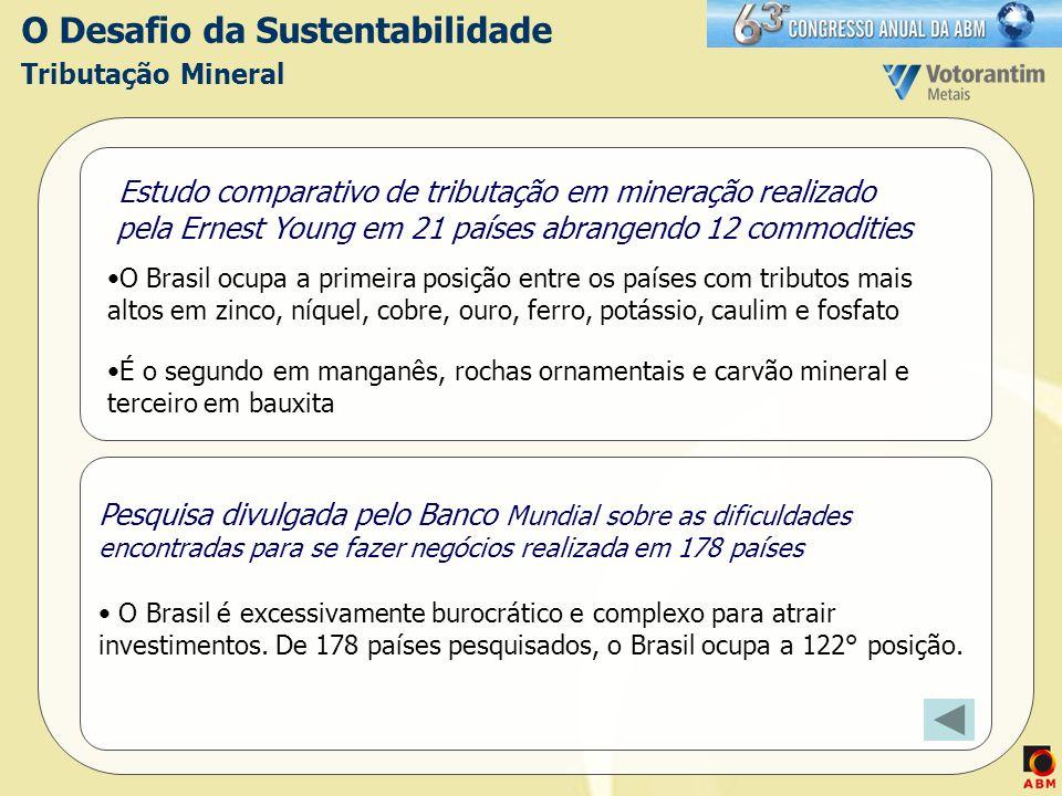 O Desafio da Sustentabilidade Tributação Mineral