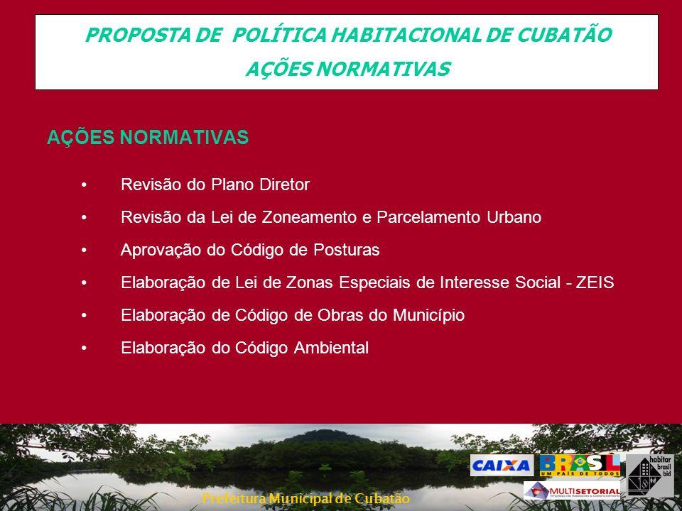 PROPOSTA DE POLÍTICA HABITACIONAL DE CUBATÃO