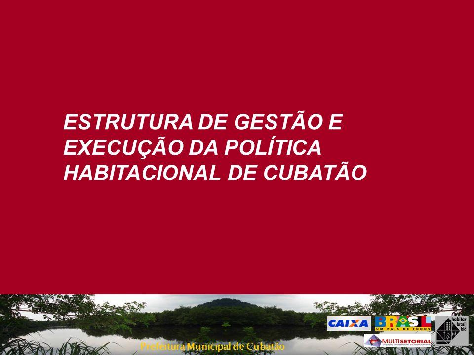 ESTRUTURA DE GESTÃO E EXECUÇÃO DA POLÍTICA HABITACIONAL DE CUBATÃO