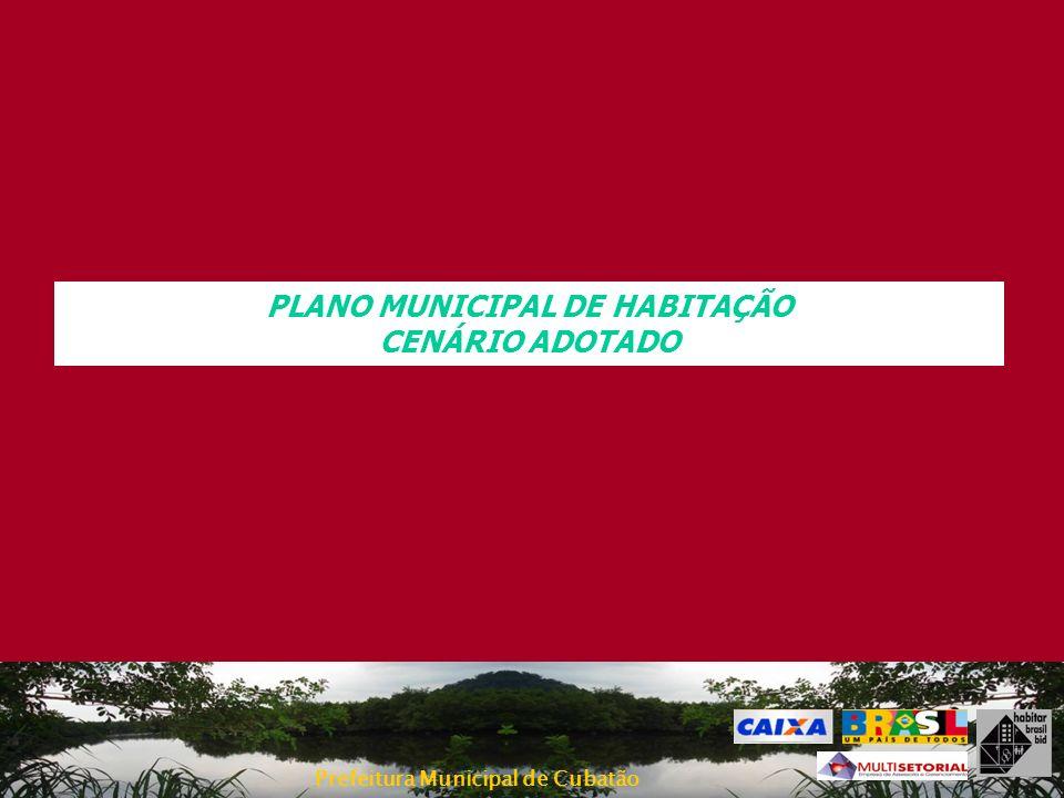 PLANO MUNICIPAL DE HABITAÇÃO CENÁRIO ADOTADO