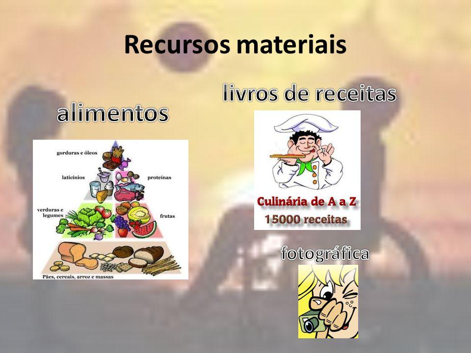 Recursos materiais livros de receitas alimentos fotográfica