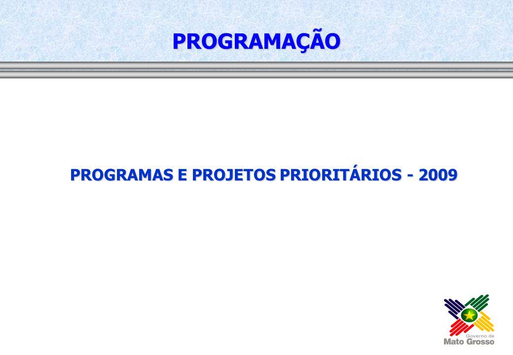 PROGRAMAS E PROJETOS PRIORITÁRIOS - 2009