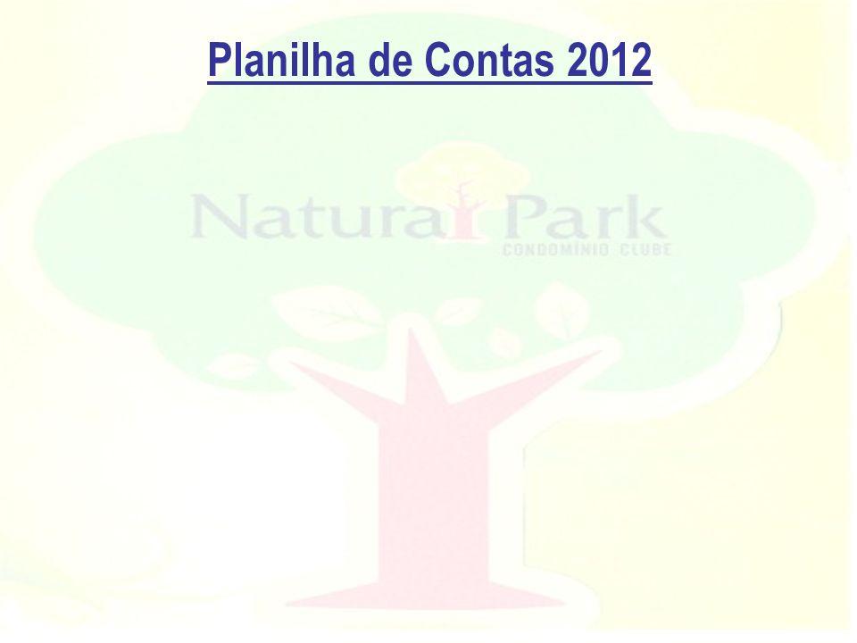Planilha de Contas 2012