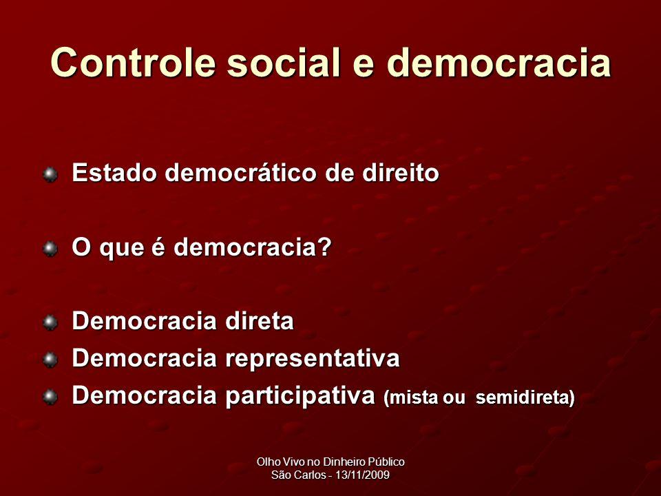 Controle social e democracia