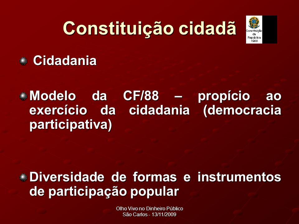 Olho Vivo no Dinheiro Público São Carlos - 13/11/2009