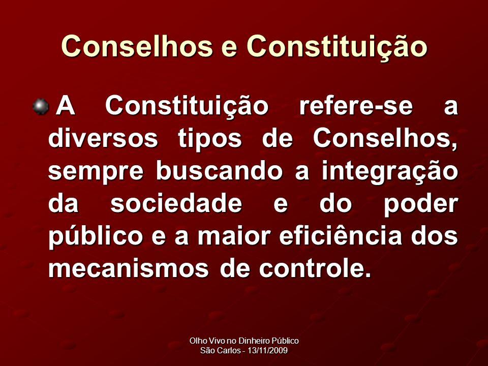 Conselhos e Constituição