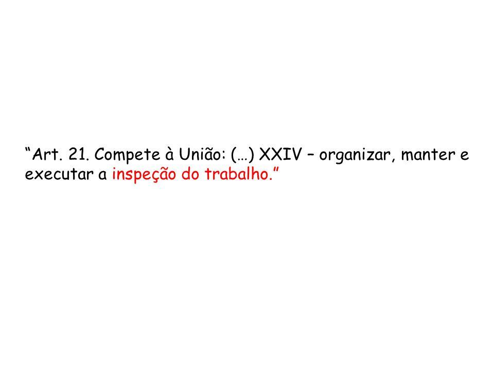 Art. 21. Compete à União: (…) XXIV – organizar, manter e