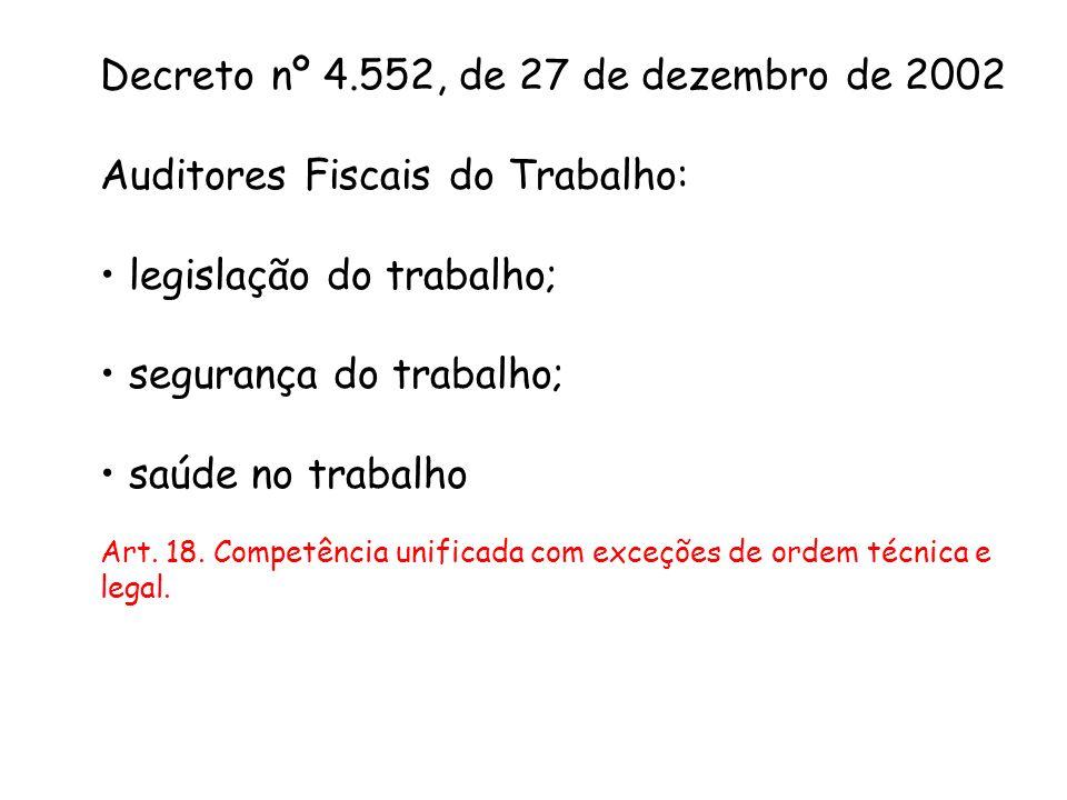 Decreto nº 4.552, de 27 de dezembro de 2002
