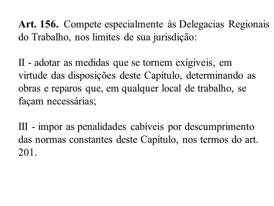 Art. 156. Compete especialmente às Delegacias Regionais