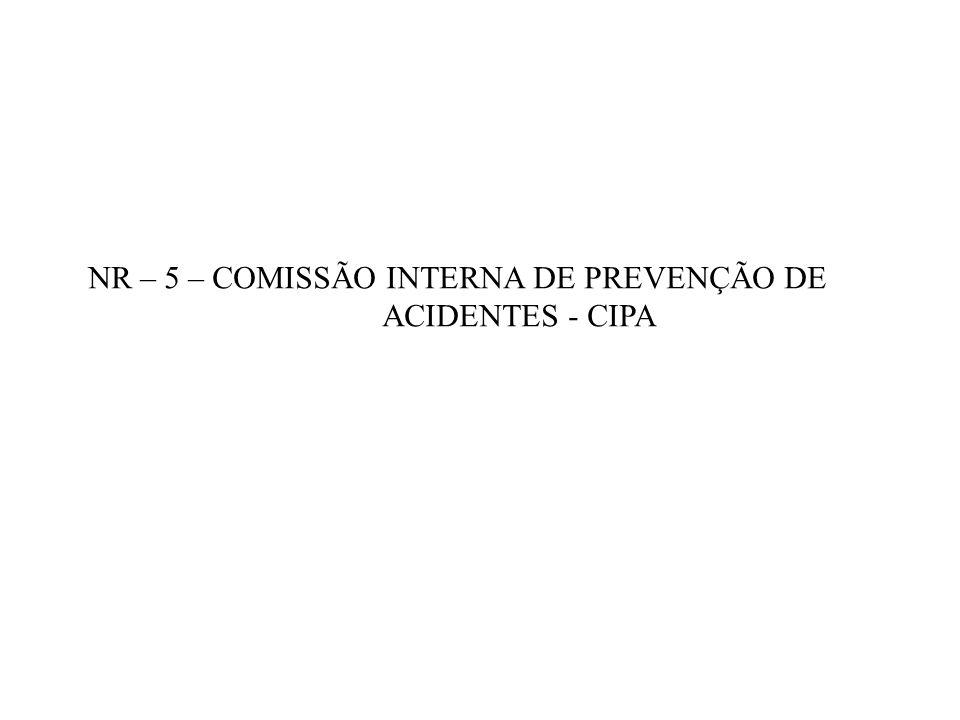 NR – 5 – COMISSÃO INTERNA DE PREVENÇÃO DE