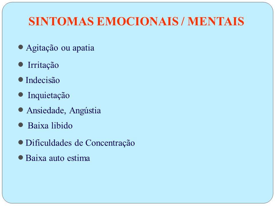 SINTOMAS EMOCIONAIS / MENTAIS