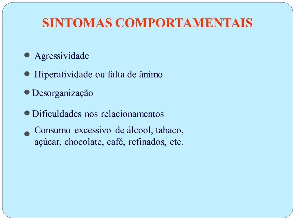 SINTOMAS COMPORTAMENTAIS