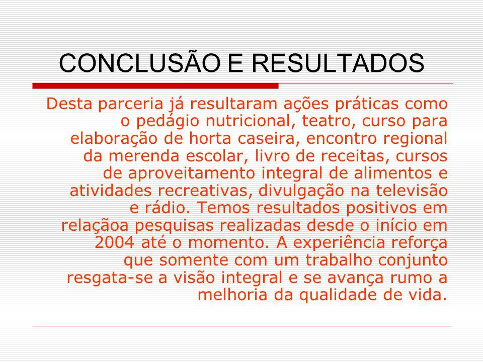 CONCLUSÃO E RESULTADOS