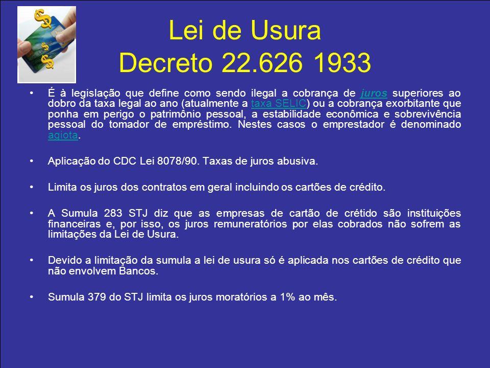 Lei de Usura Decreto 22.626 1933