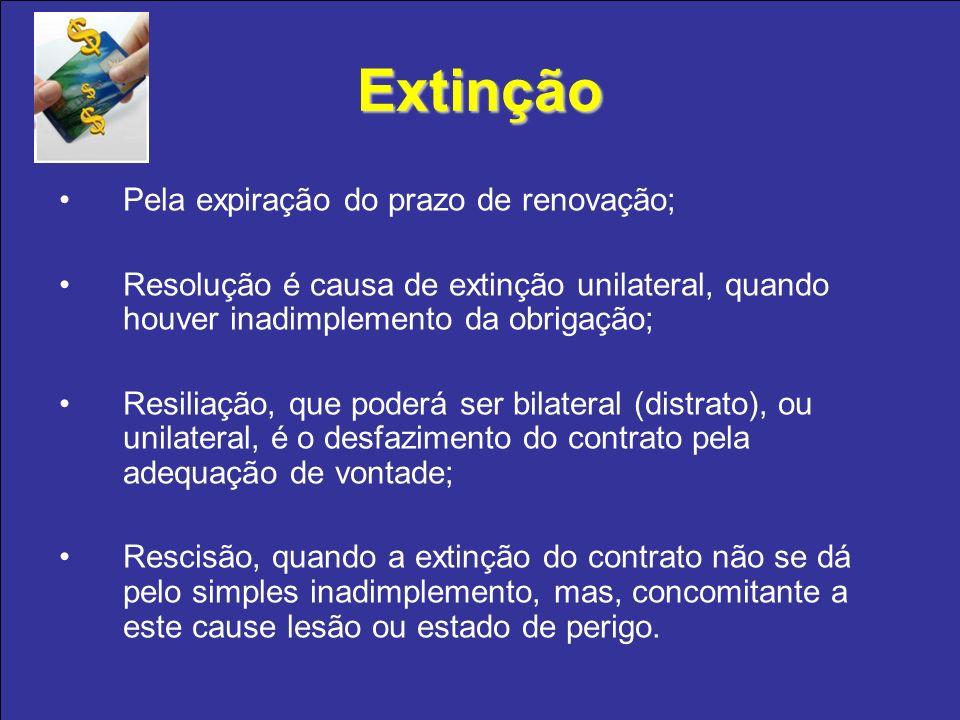 Extinção Pela expiração do prazo de renovação;