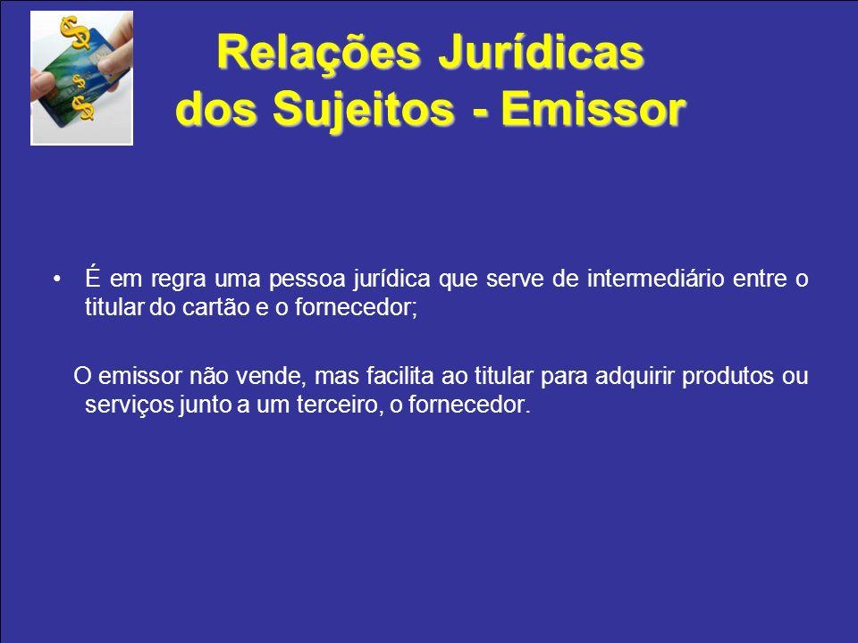 Relações Jurídicas dos Sujeitos - Emissor