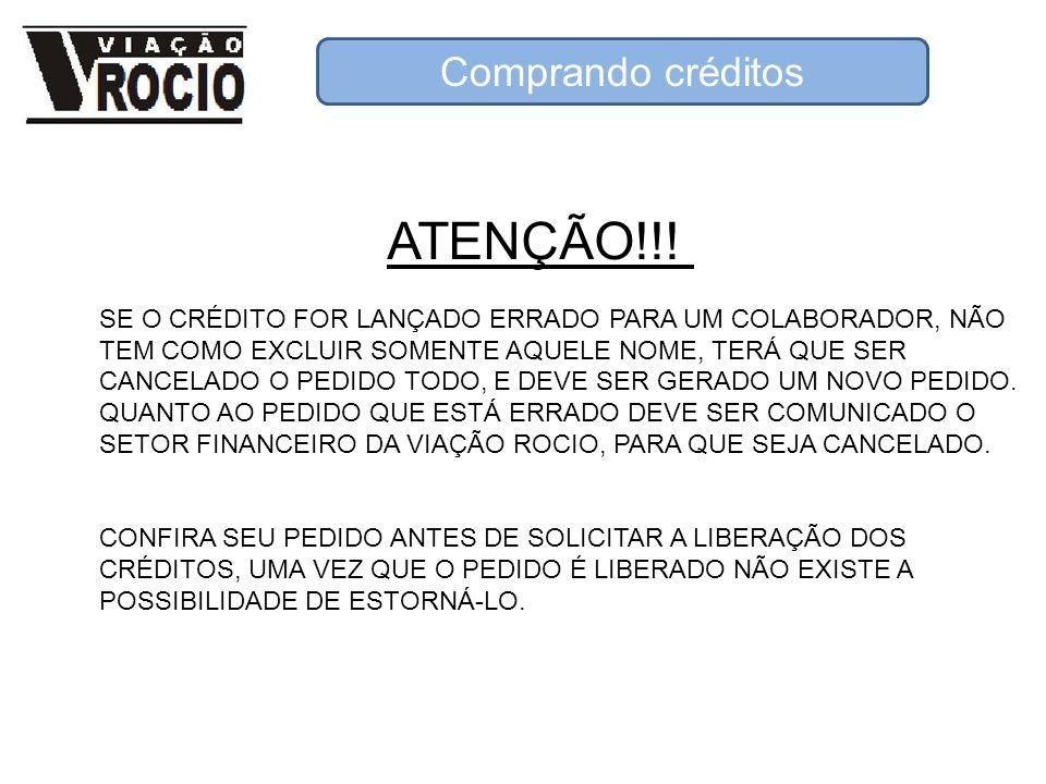 ATENÇÃO!!! Comprando créditos