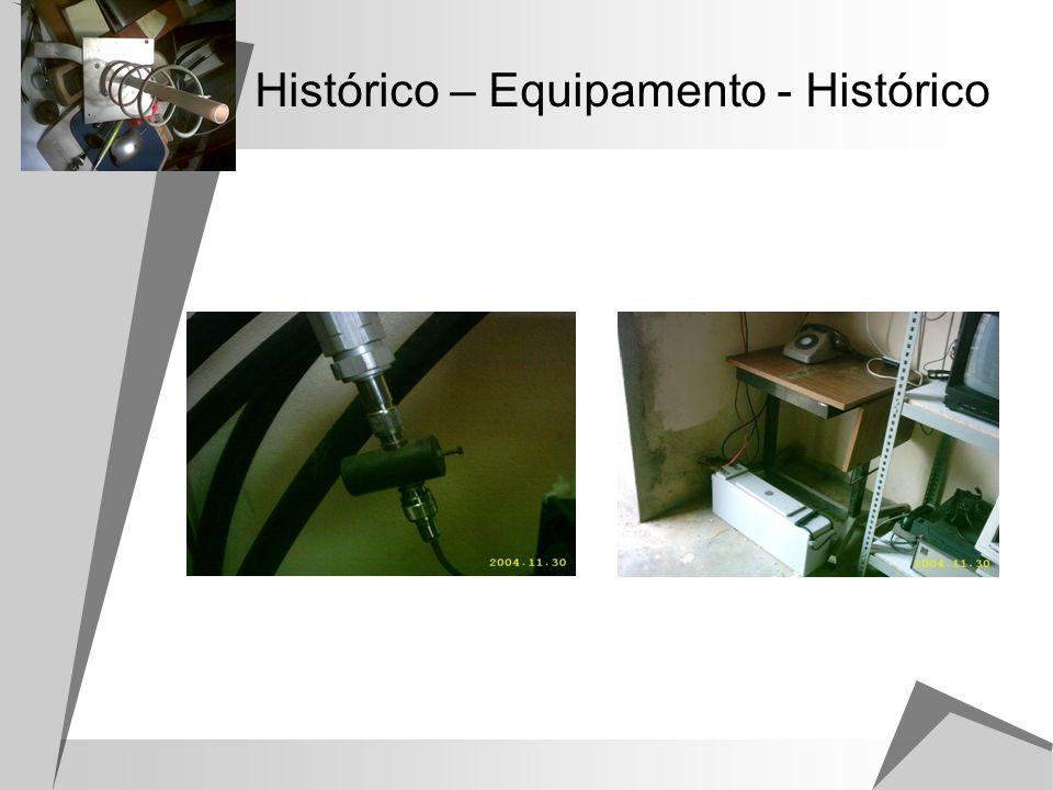 Histórico – Equipamento - Histórico