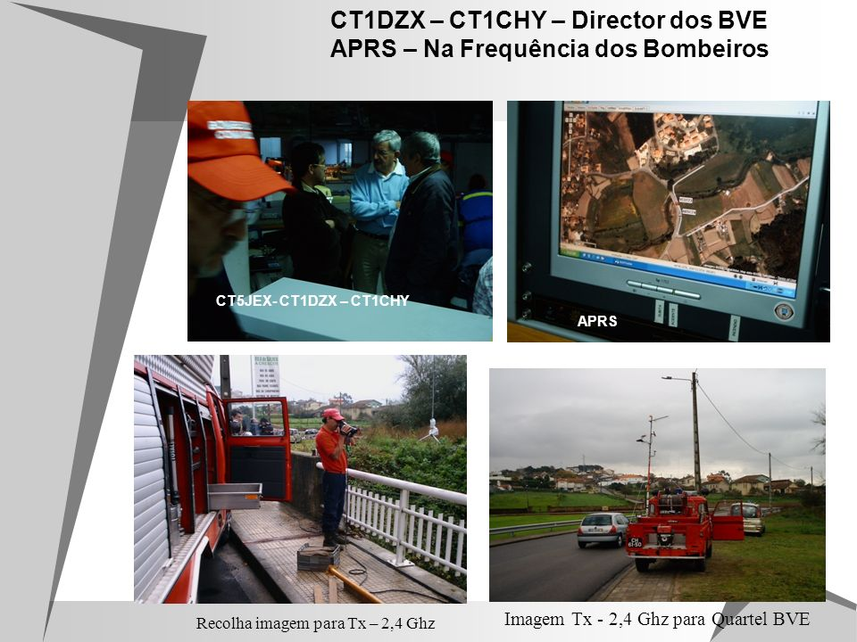 CT1DZX – CT1CHY – Director dos BVE APRS – Na Frequência dos Bombeiros