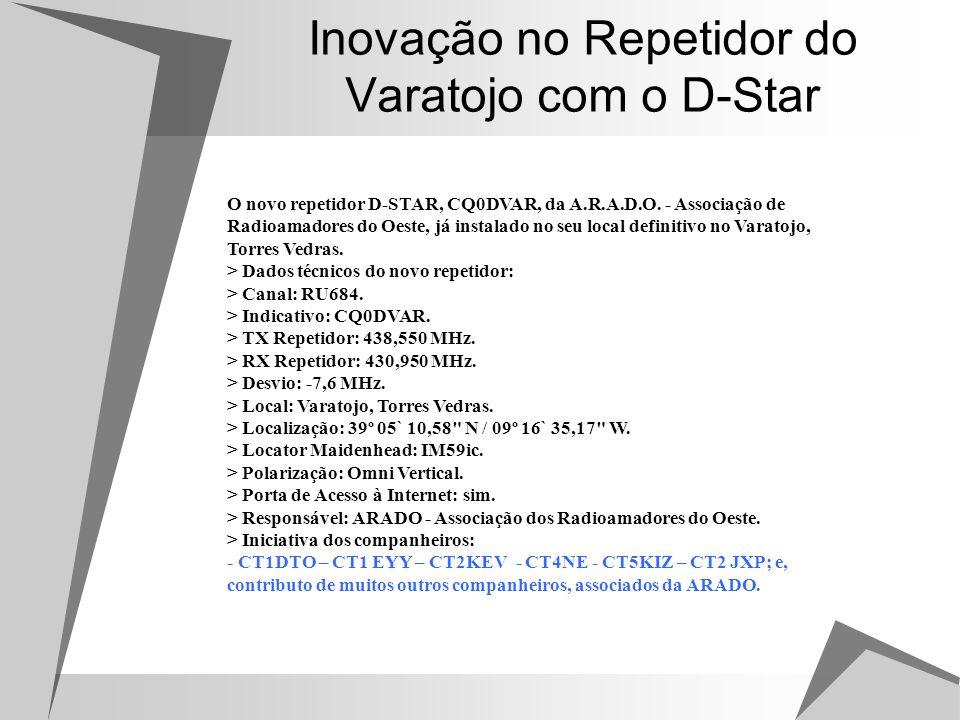 Inovação no Repetidor do Varatojo com o D-Star