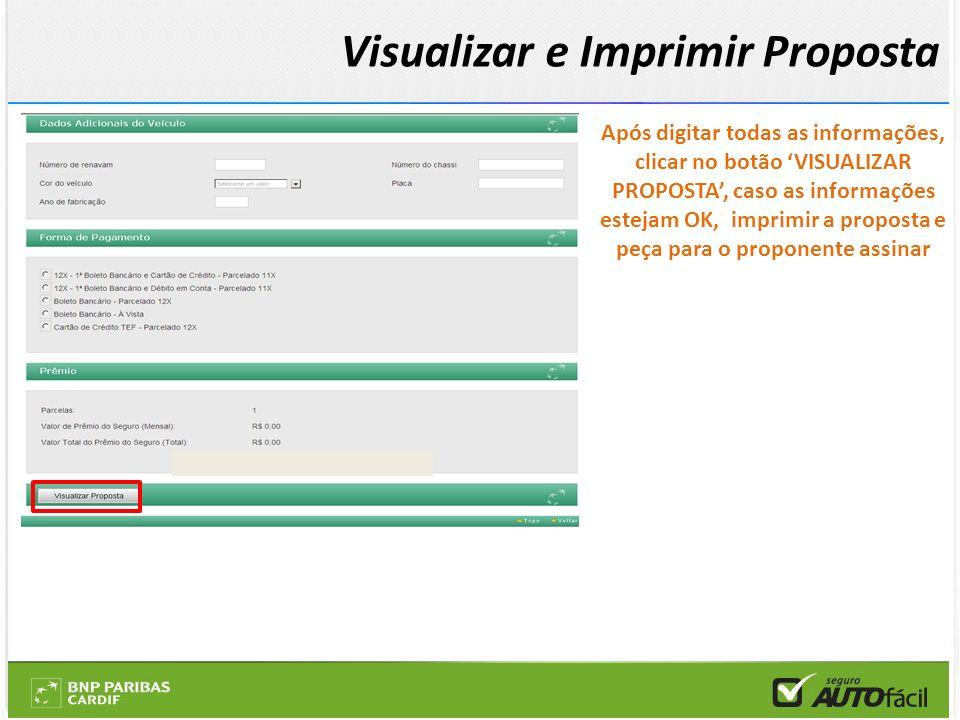 Visualizar e Imprimir Proposta