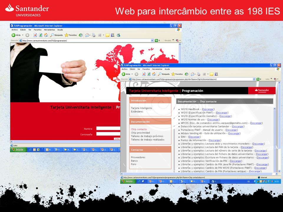 Web para intercâmbio entre as 198 IES
