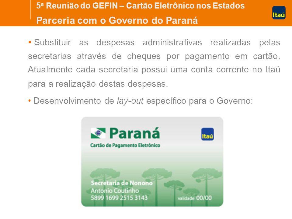 Parceria com o Governo do Paraná