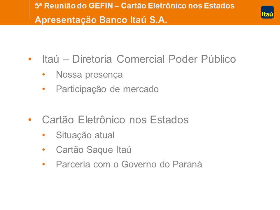 Itaú – Diretoria Comercial Poder Público