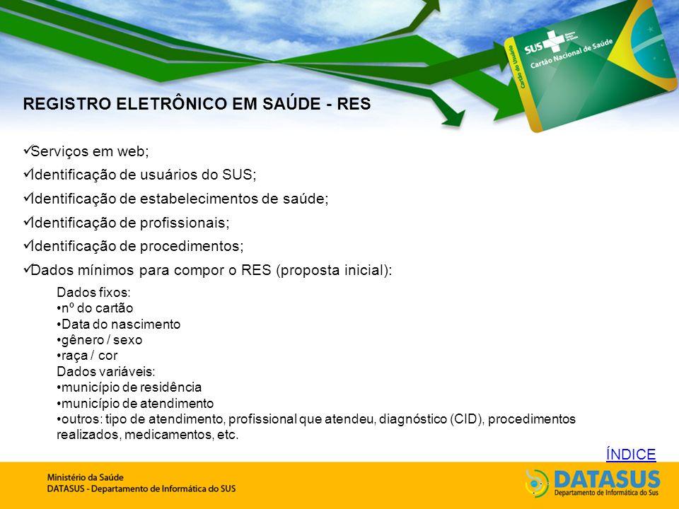 REGISTRO ELETRÔNICO EM SAÚDE - RES