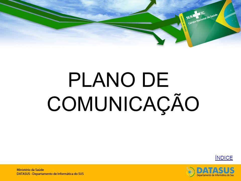 PLANO DE COMUNICAÇÃO ÍNDICE