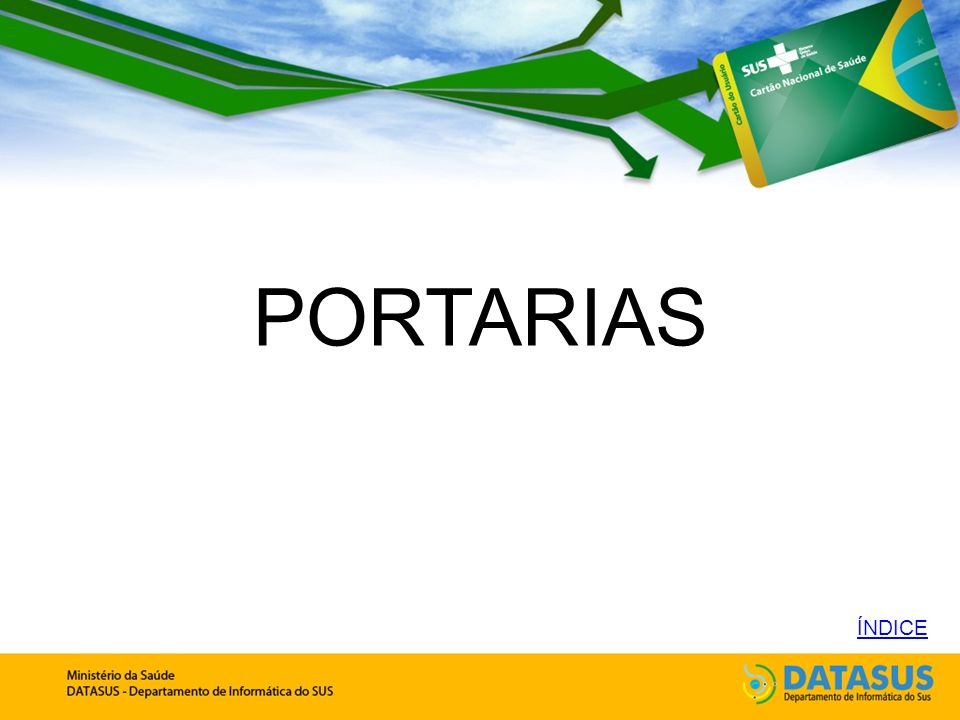 PORTARIAS ÍNDICE
