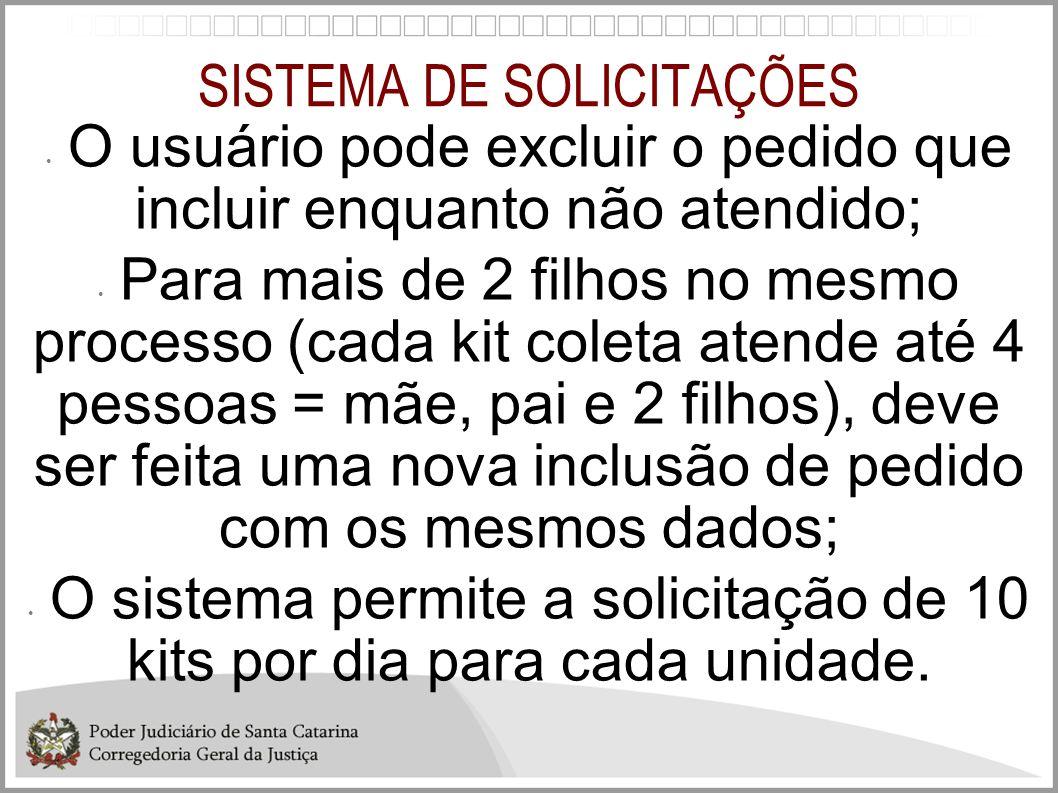 SISTEMA DE SOLICITAÇÕES