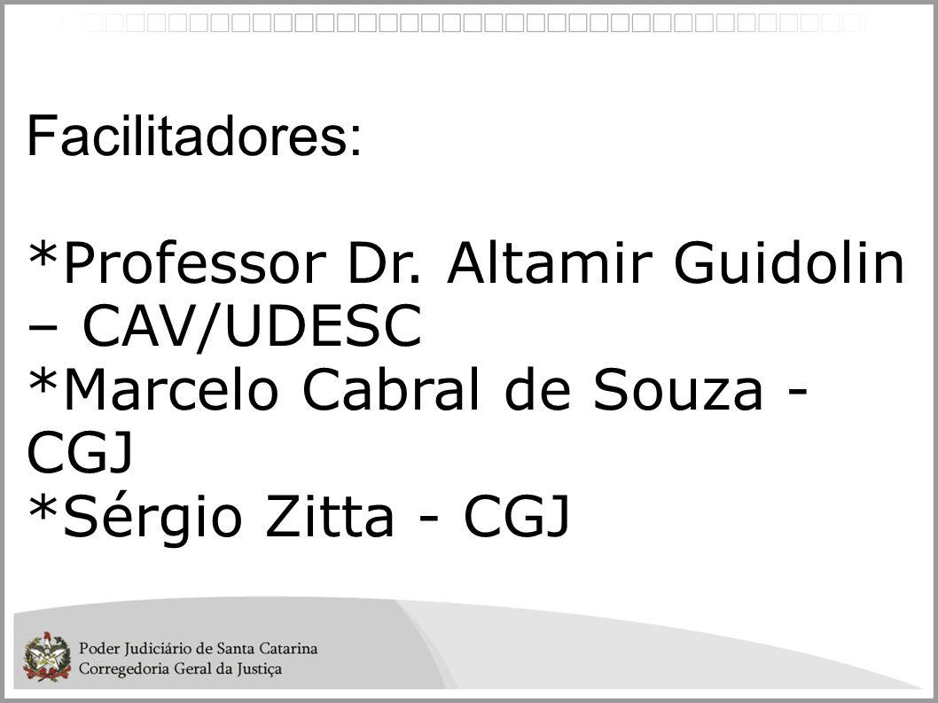 Facilitadores: *Professor Dr. Altamir Guidolin – CAV/UDESC.