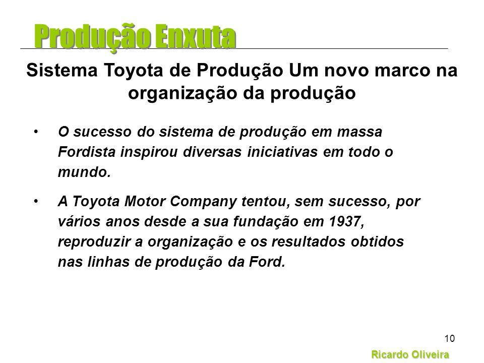 Sistema Toyota de Produção Um novo marco na organização da produção