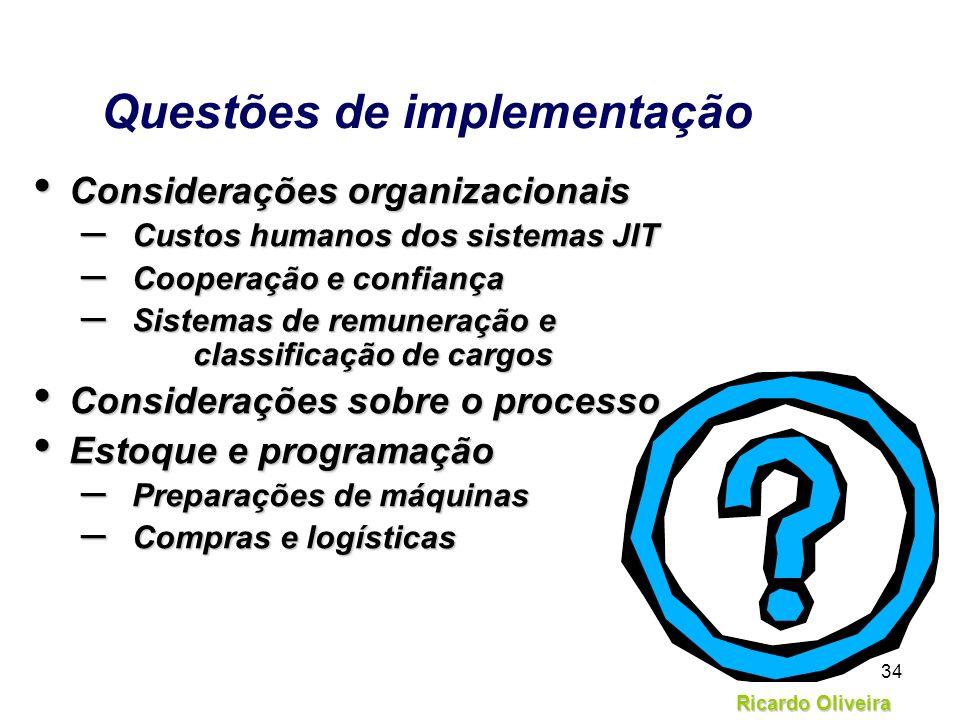 Questões de implementação