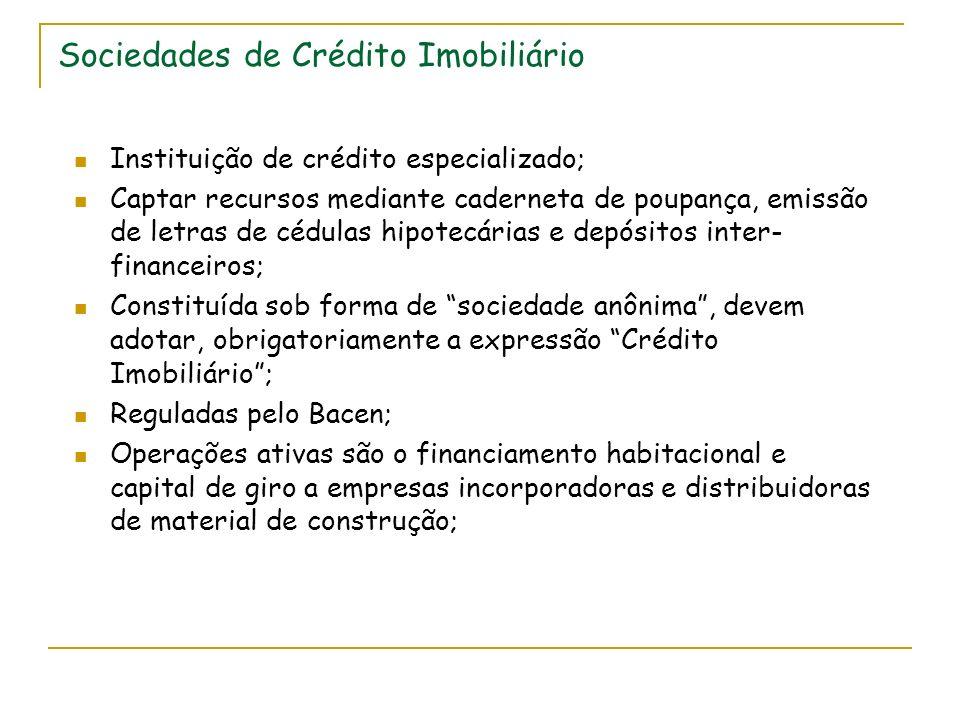 Sociedades de Crédito Imobiliário