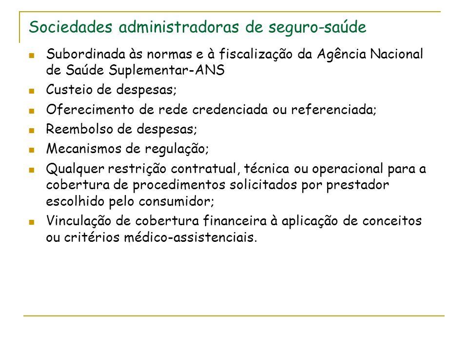 Sociedades administradoras de seguro-saúde