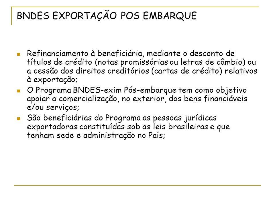 BNDES EXPORTAÇÃO POS EMBARQUE