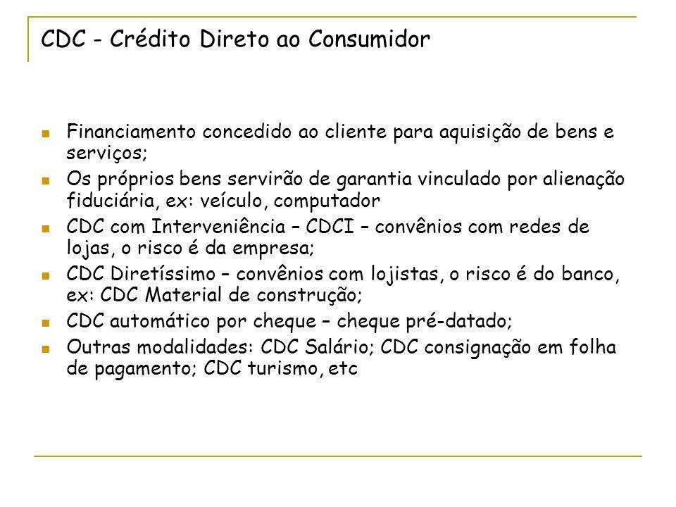 CDC - Crédito Direto ao Consumidor