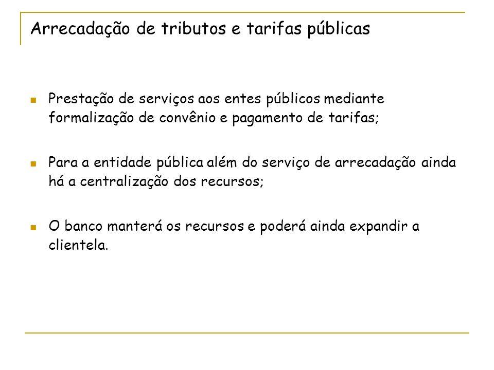 Arrecadação de tributos e tarifas públicas