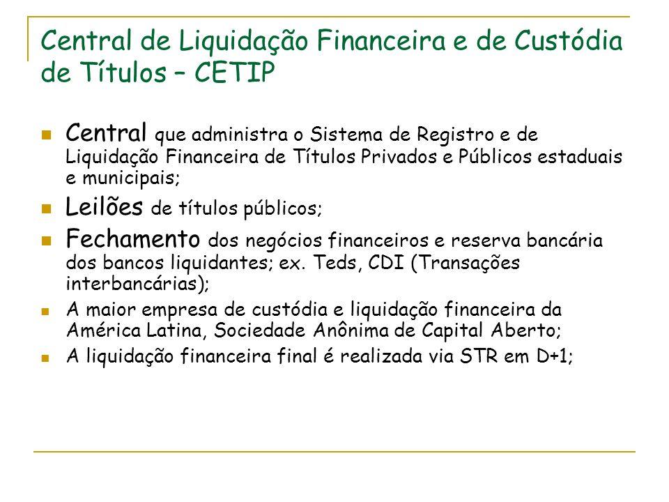 Central de Liquidação Financeira e de Custódia de Títulos – CETIP