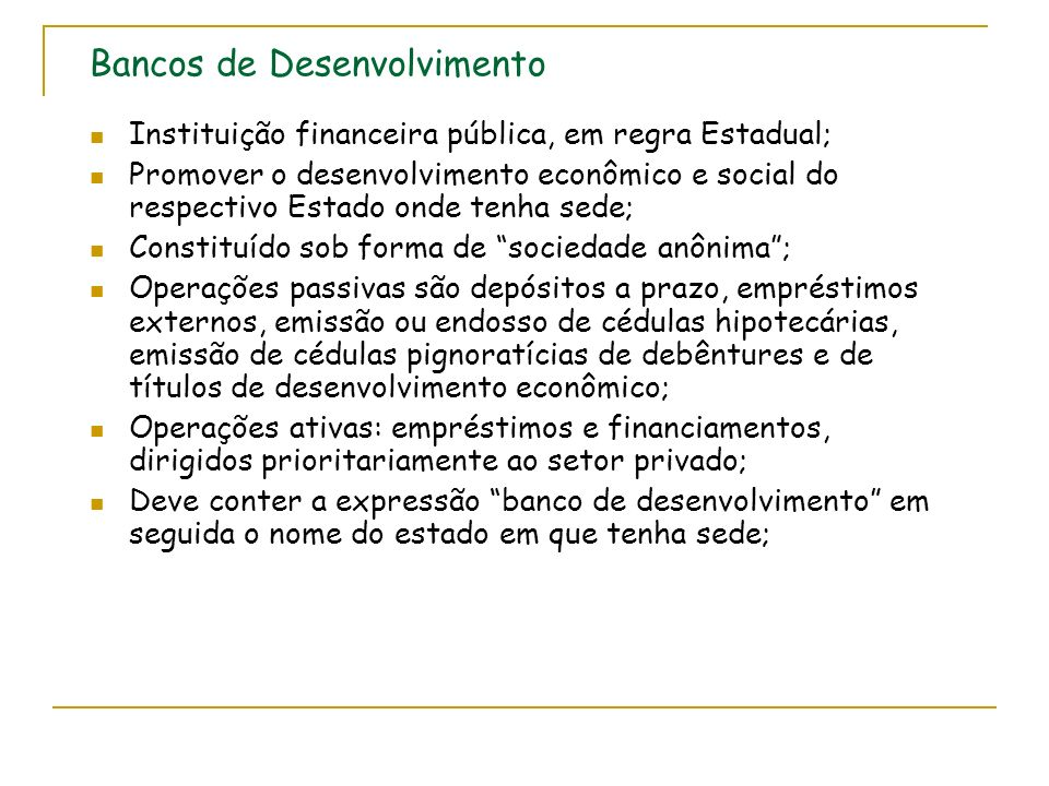 Bancos de Desenvolvimento