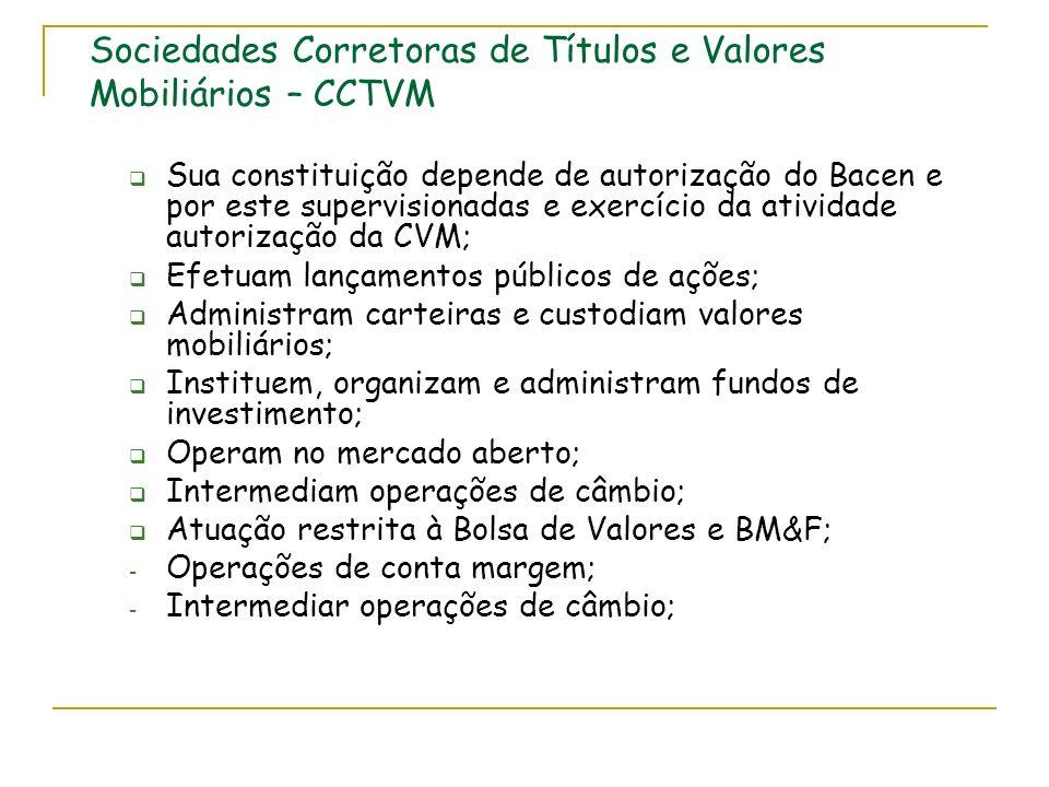 Sociedades Corretoras de Títulos e Valores Mobiliários – CCTVM