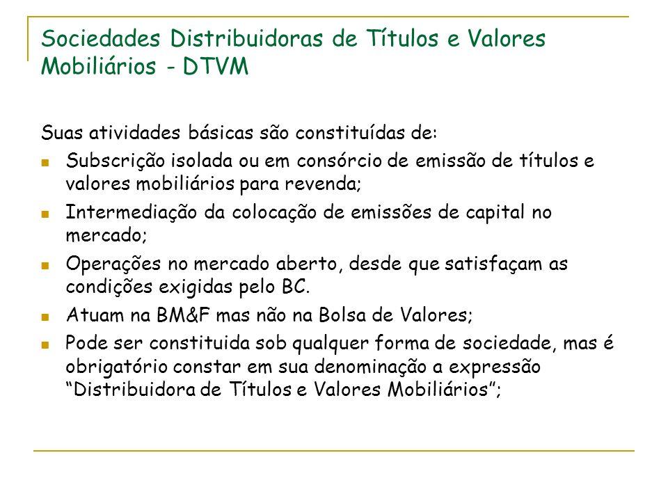 Sociedades Distribuidoras de Títulos e Valores Mobiliários - DTVM